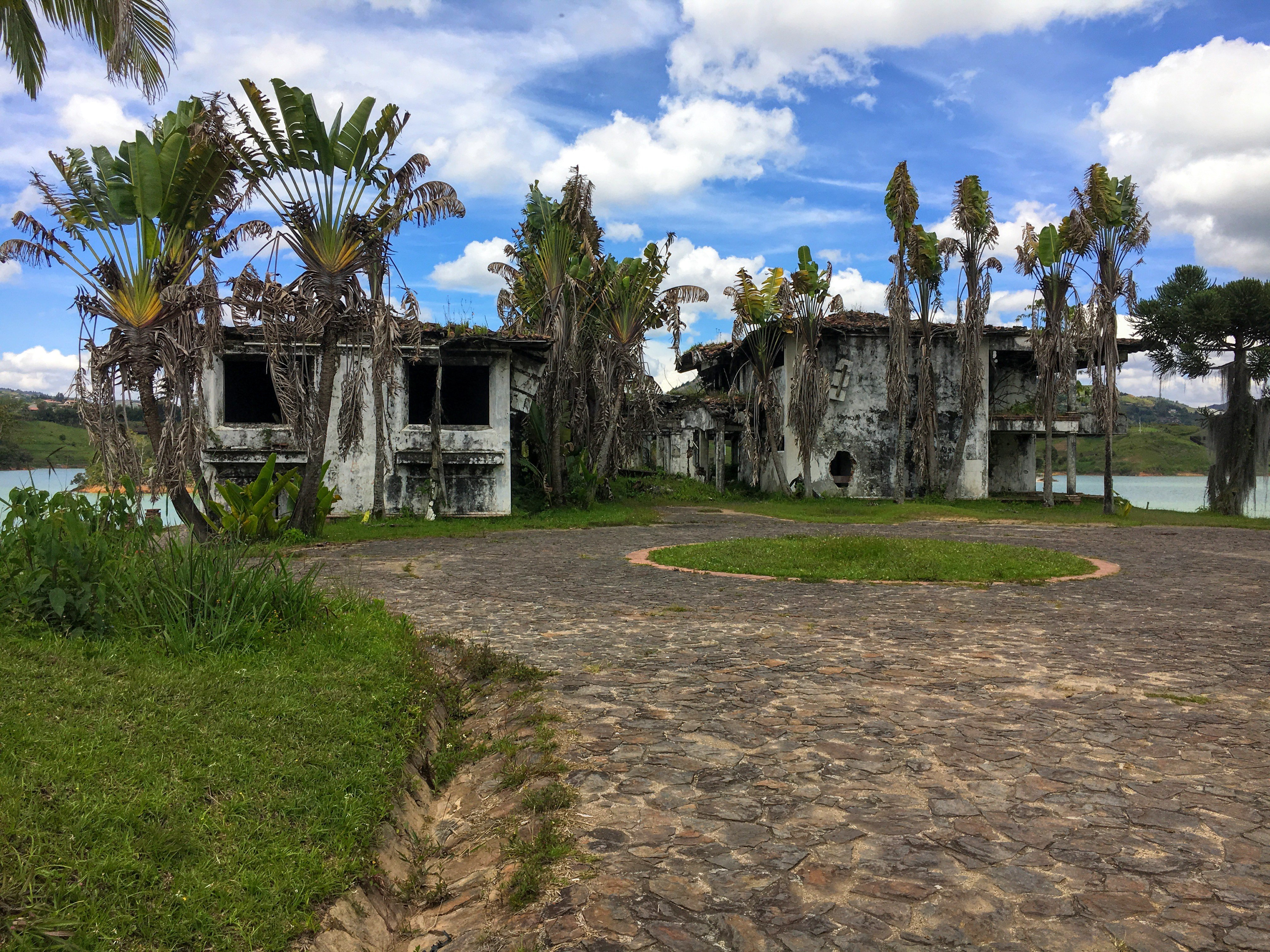 ruins of Pablo Escobar's mansion in Guatape Colombia