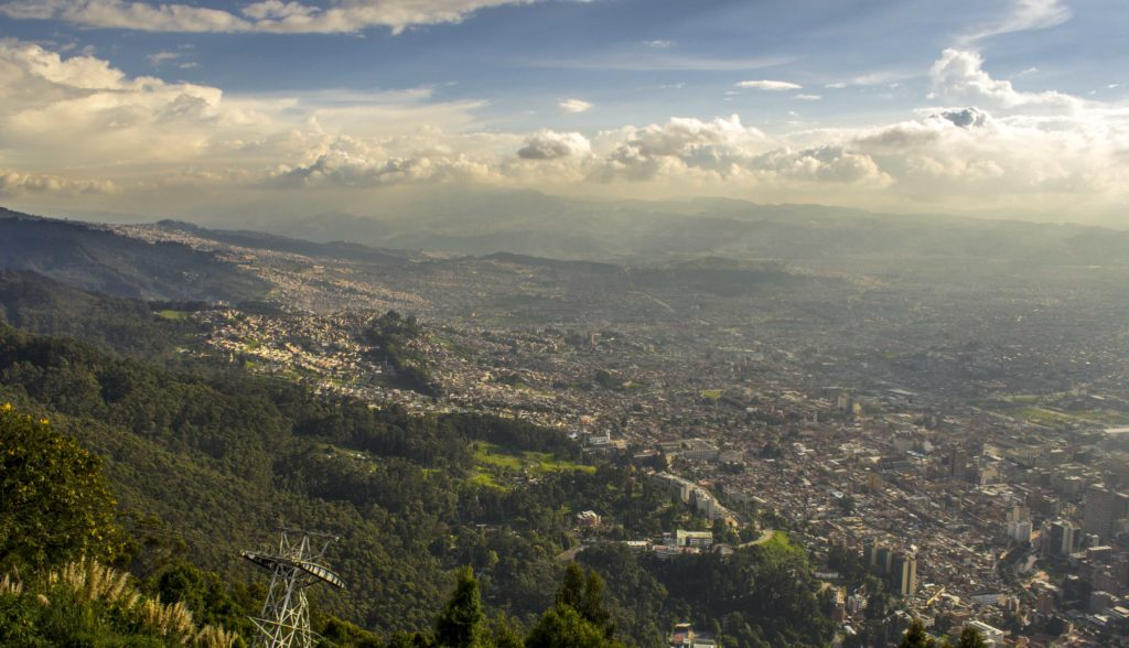 View from Monserrate in Bogota