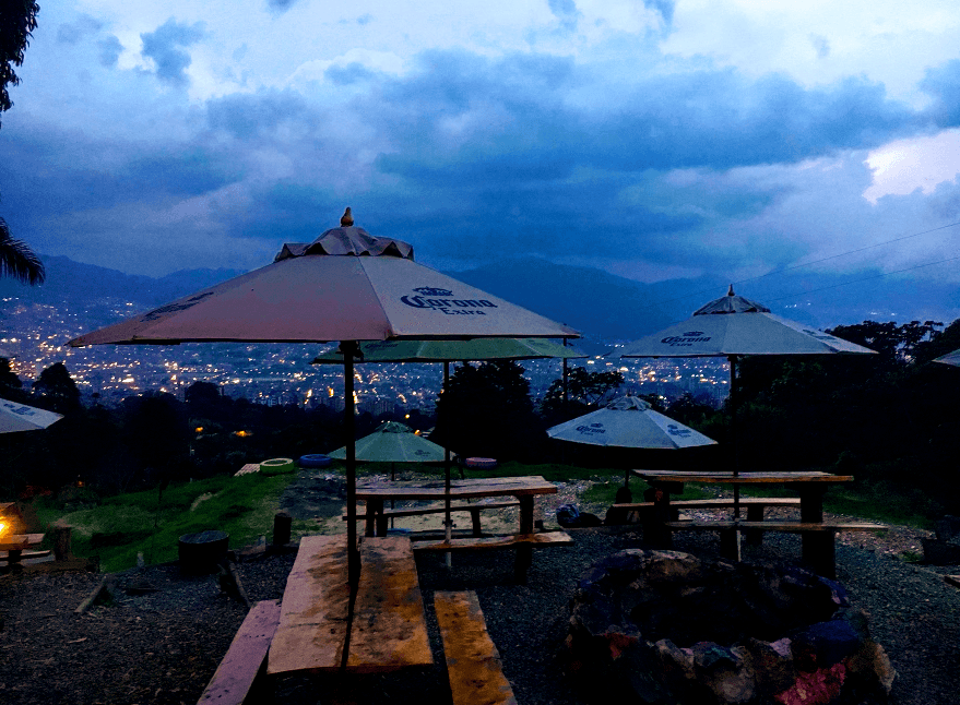 the view from Mahalo, one of the best restaurants in Envigado