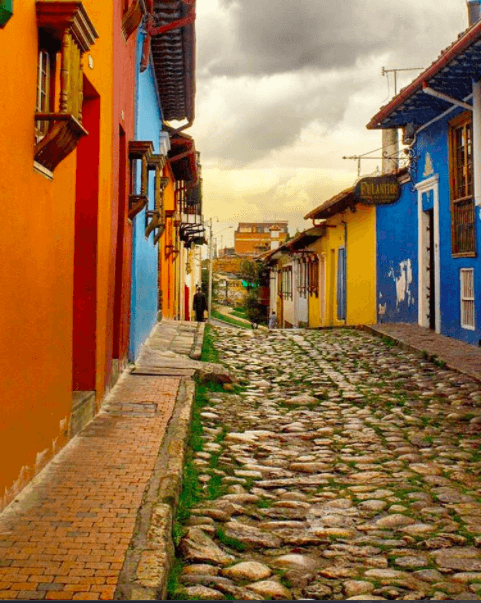 exploring candelaria during a weekend in Bogota