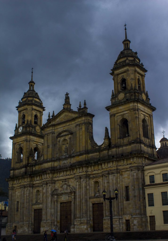 cathedral in bogota city center