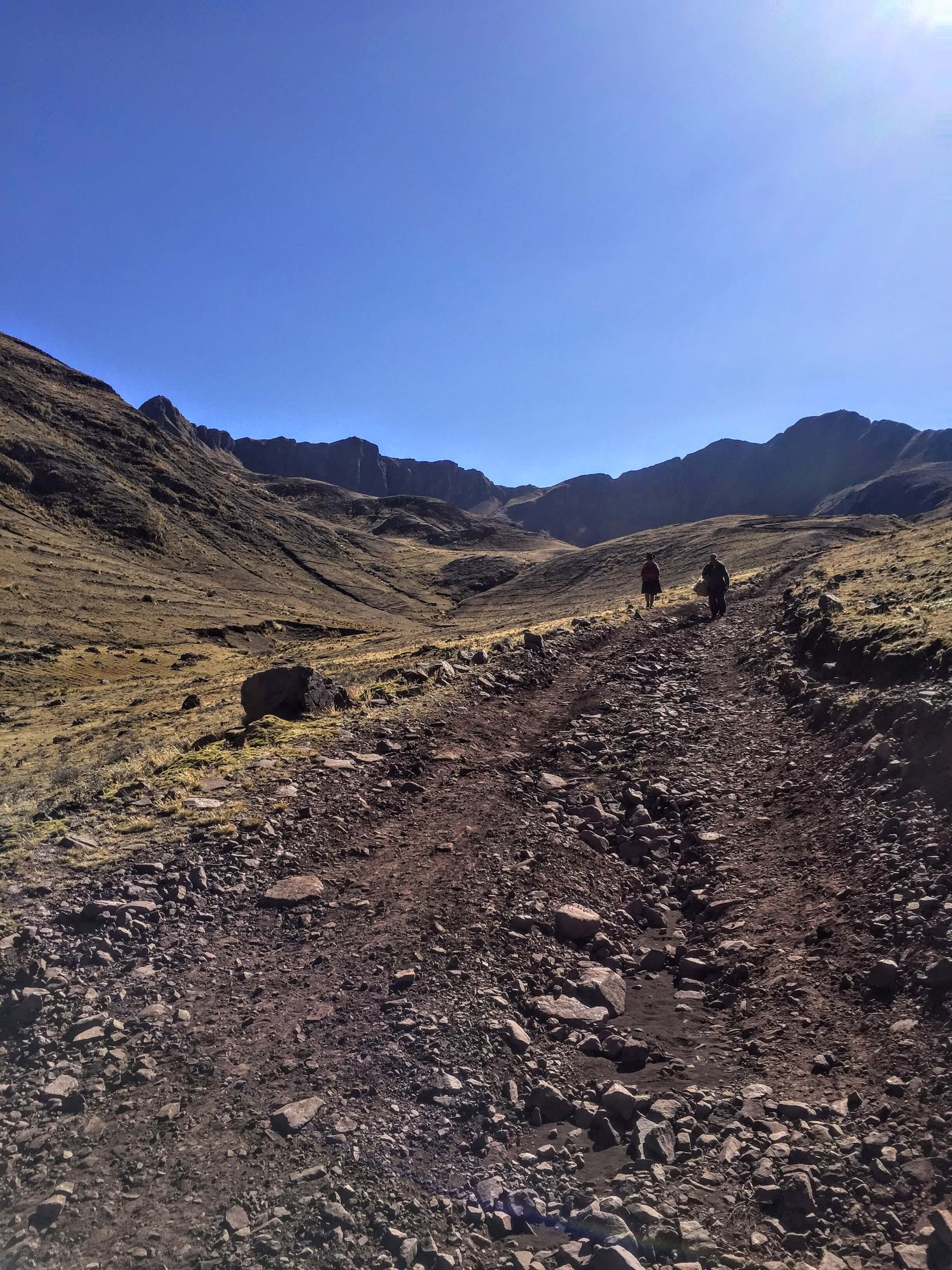 start of the Huchuy Qosqo trek