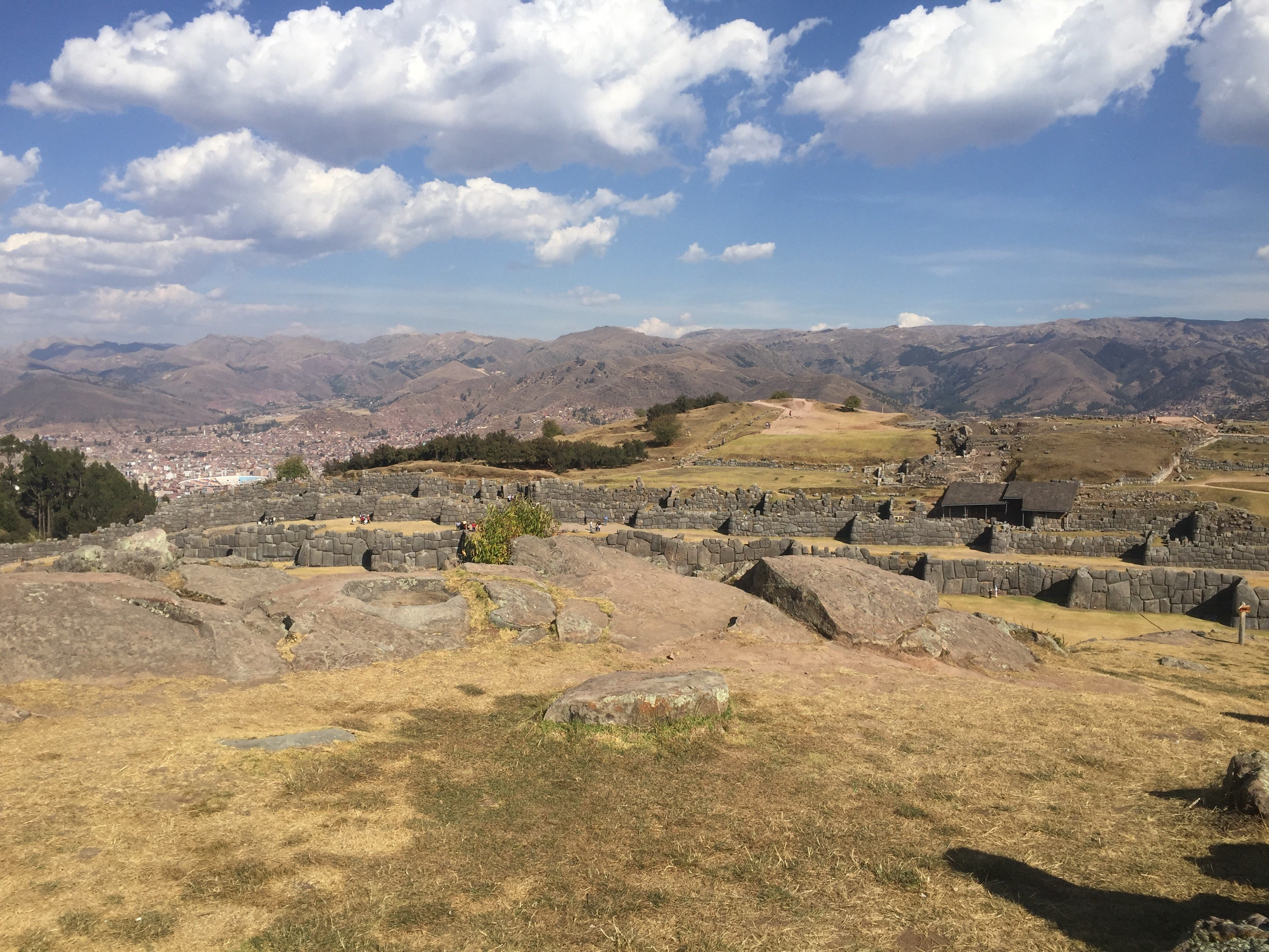 Sacsayhuaman ruins and a view of Cusco