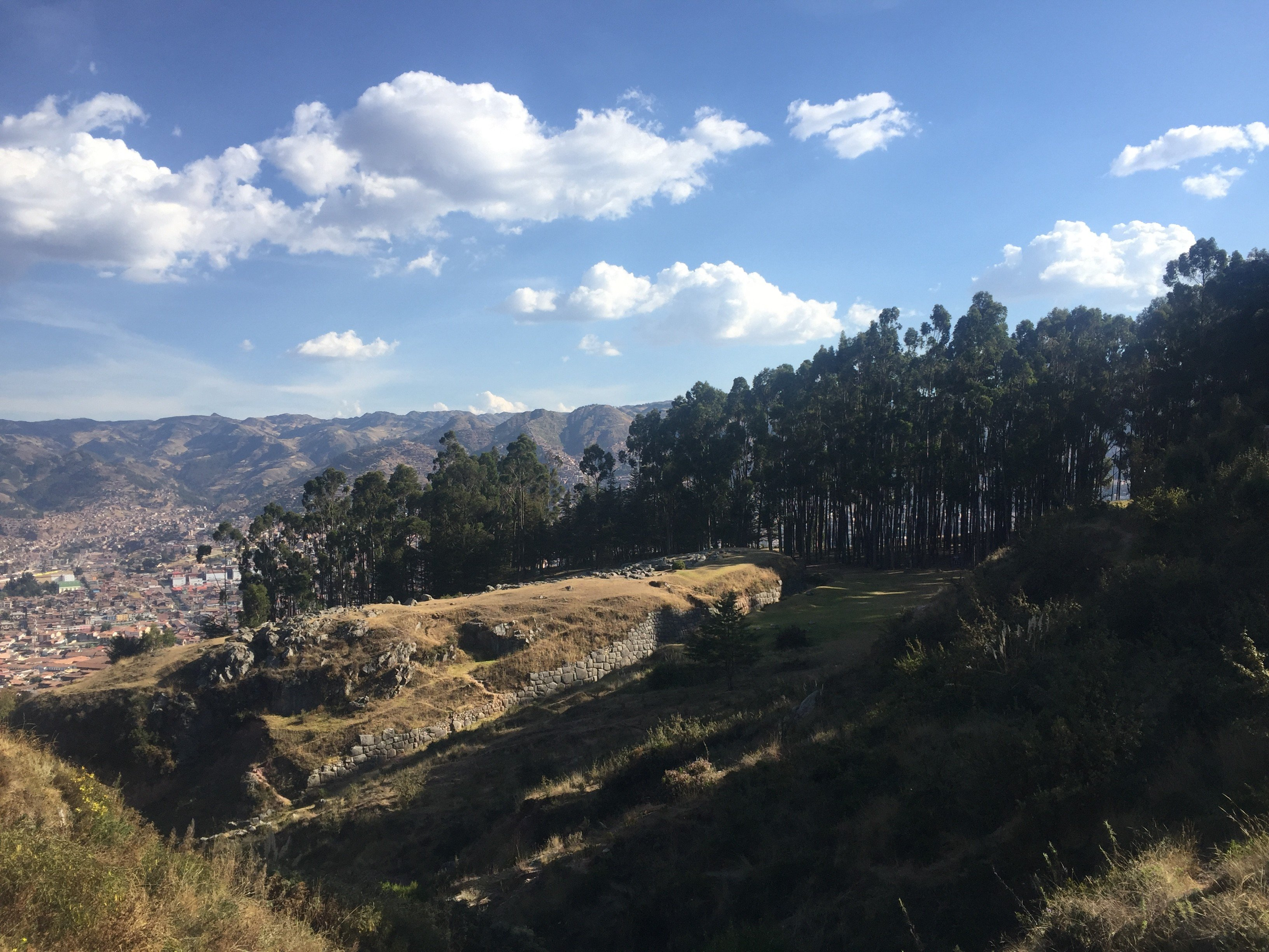 view from the quenko ruins in Cusco, Peru