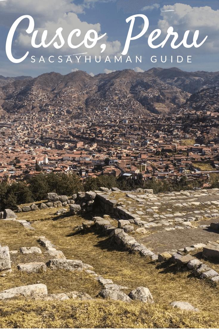 Sacsayhuaman ruins Pinterest pin