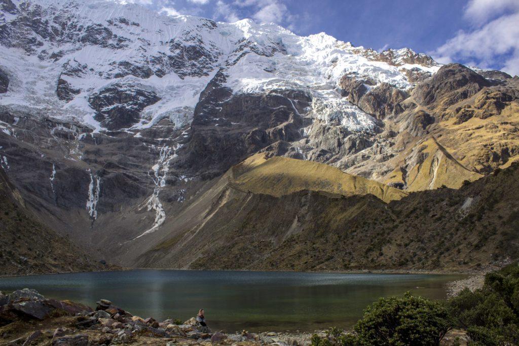 Humantay lake on the Salkantay Trek to Machu Picchu