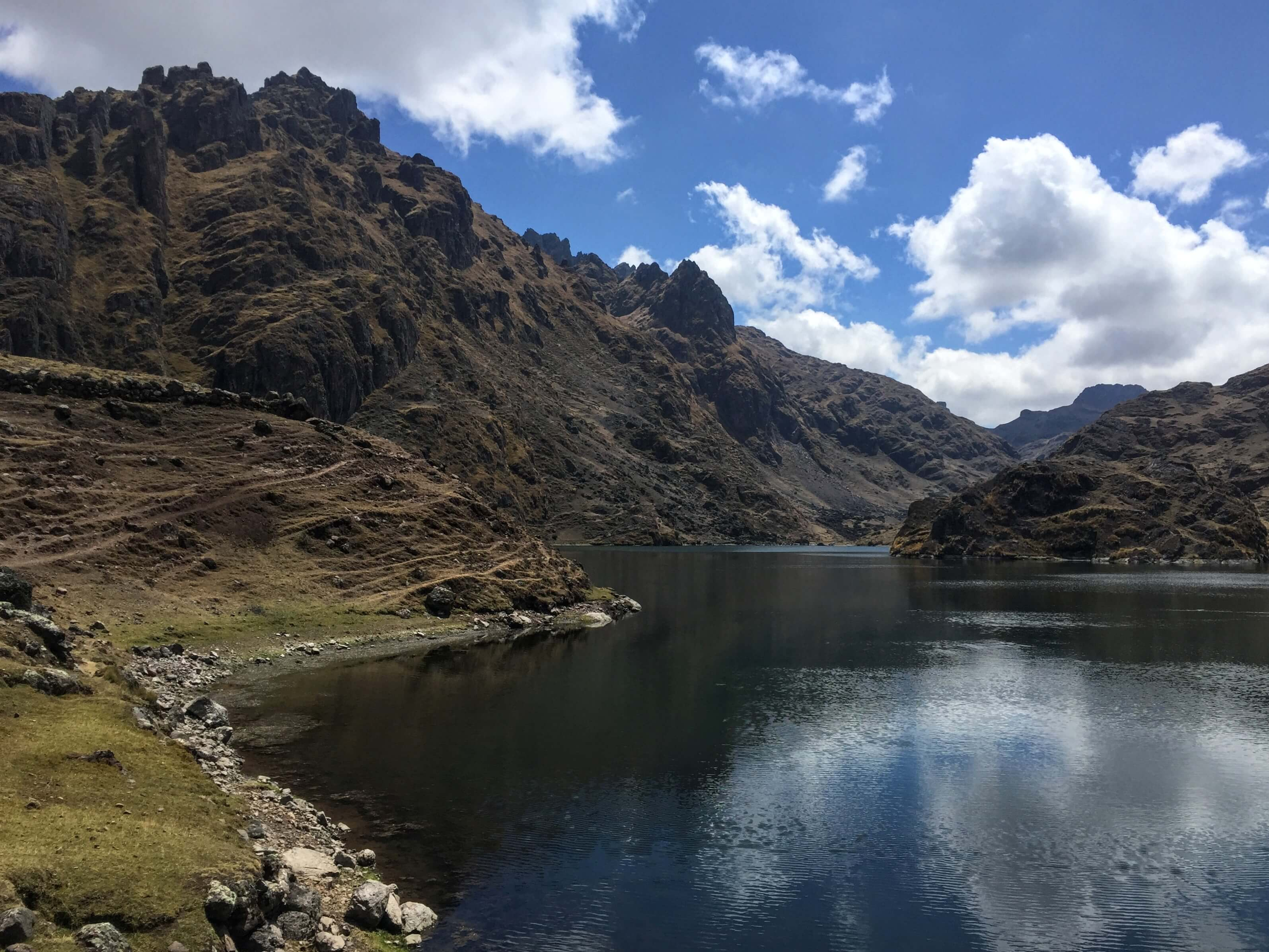 Lake One on the Three Lakes Hike in Pisac, peru