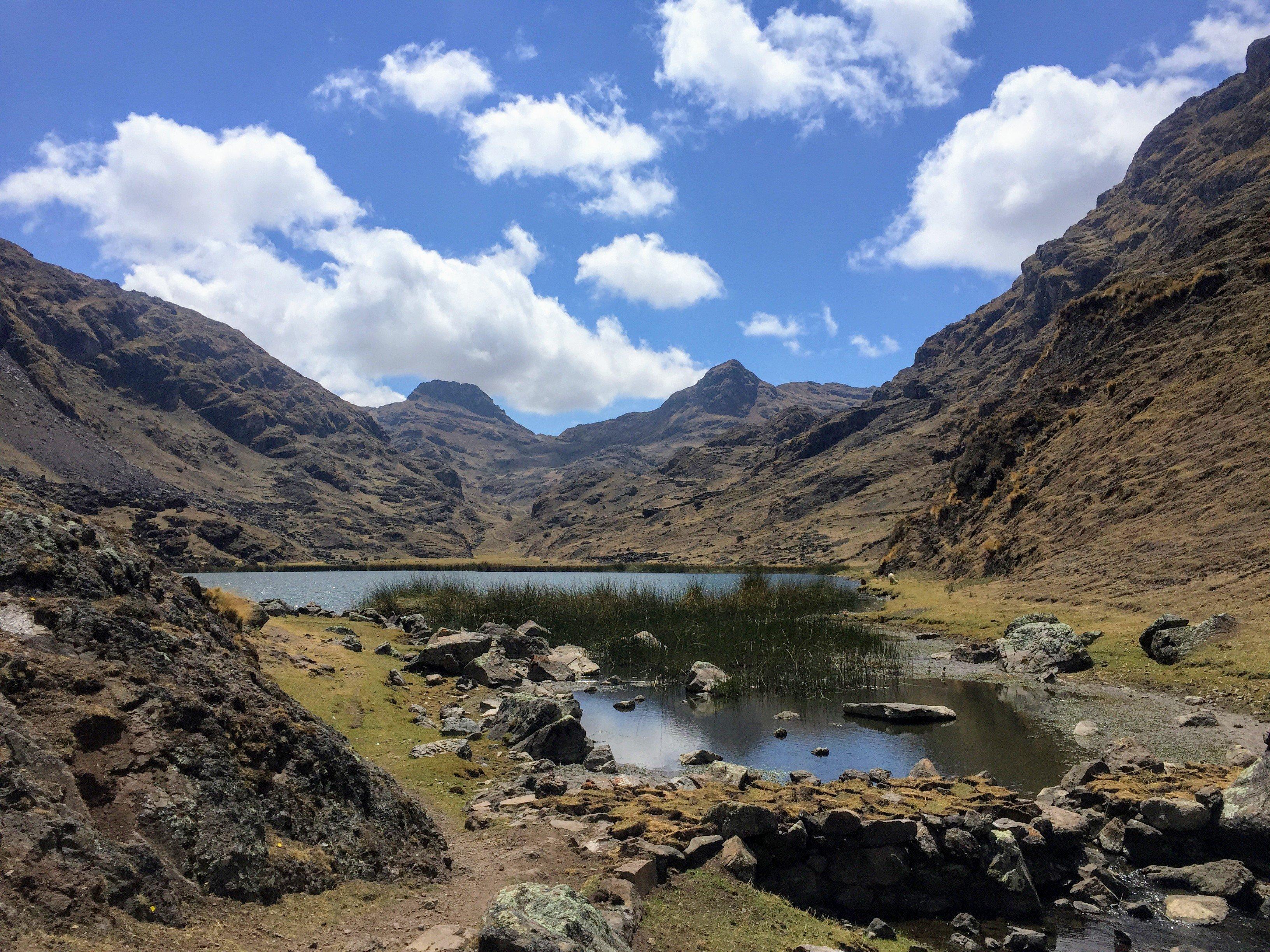 second lake on Kinsa Cocha, Pisac's three lakes hike