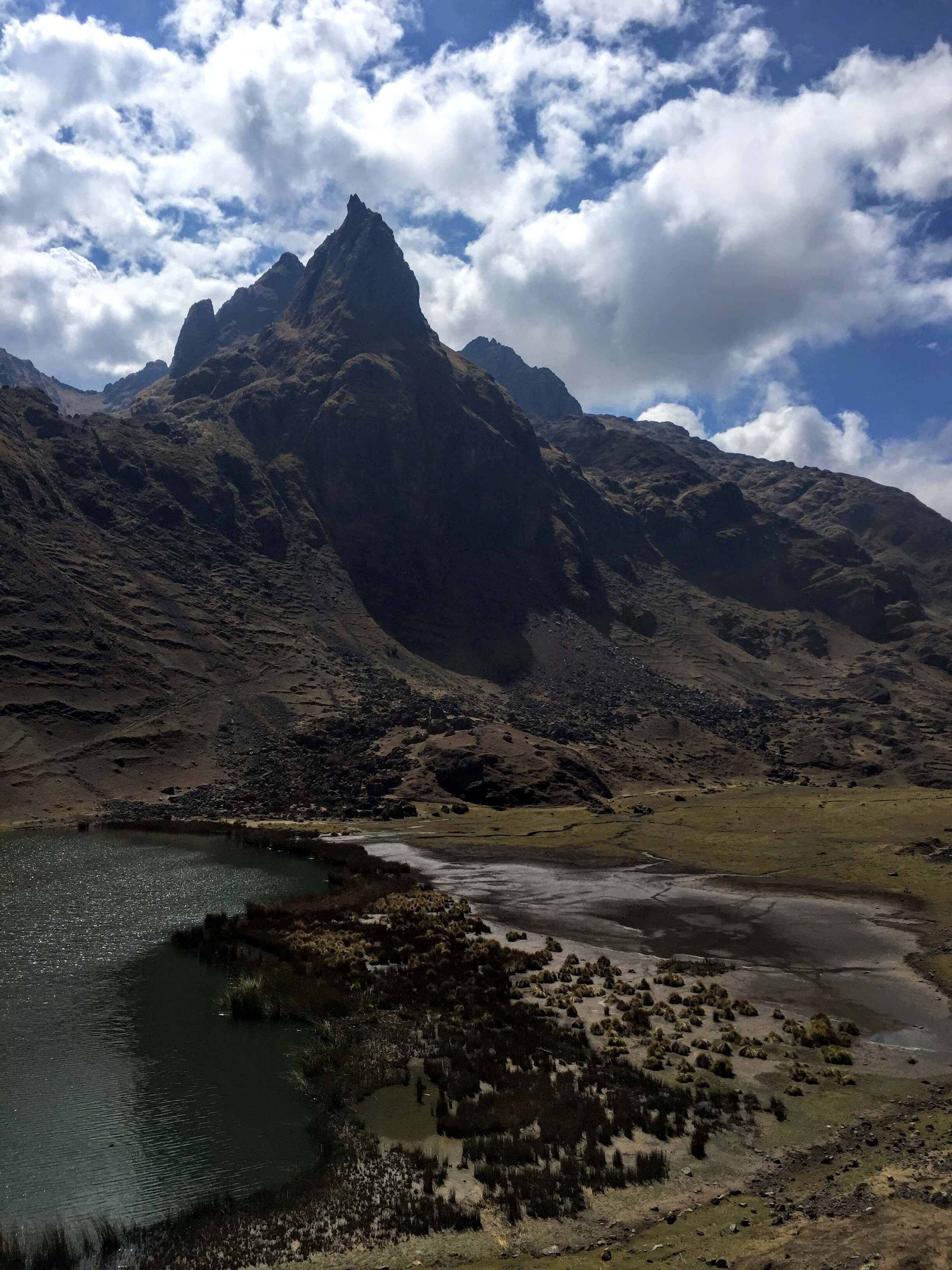 mountains and water on Pisac's Three Lakes hike