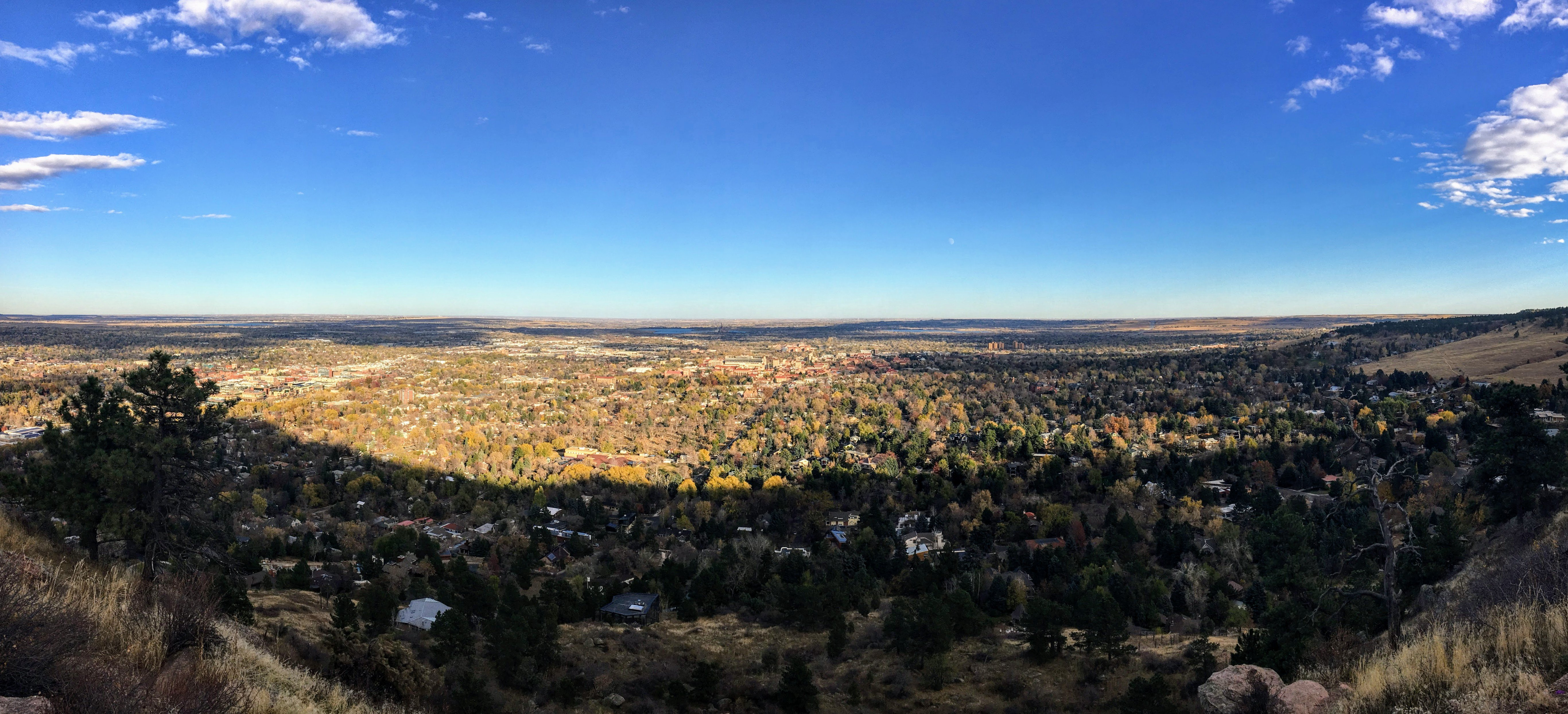 view of Boulder, Colorado from above