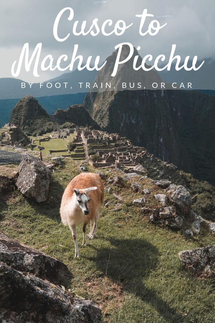How to Get to Machu Picchu Pinterest pin