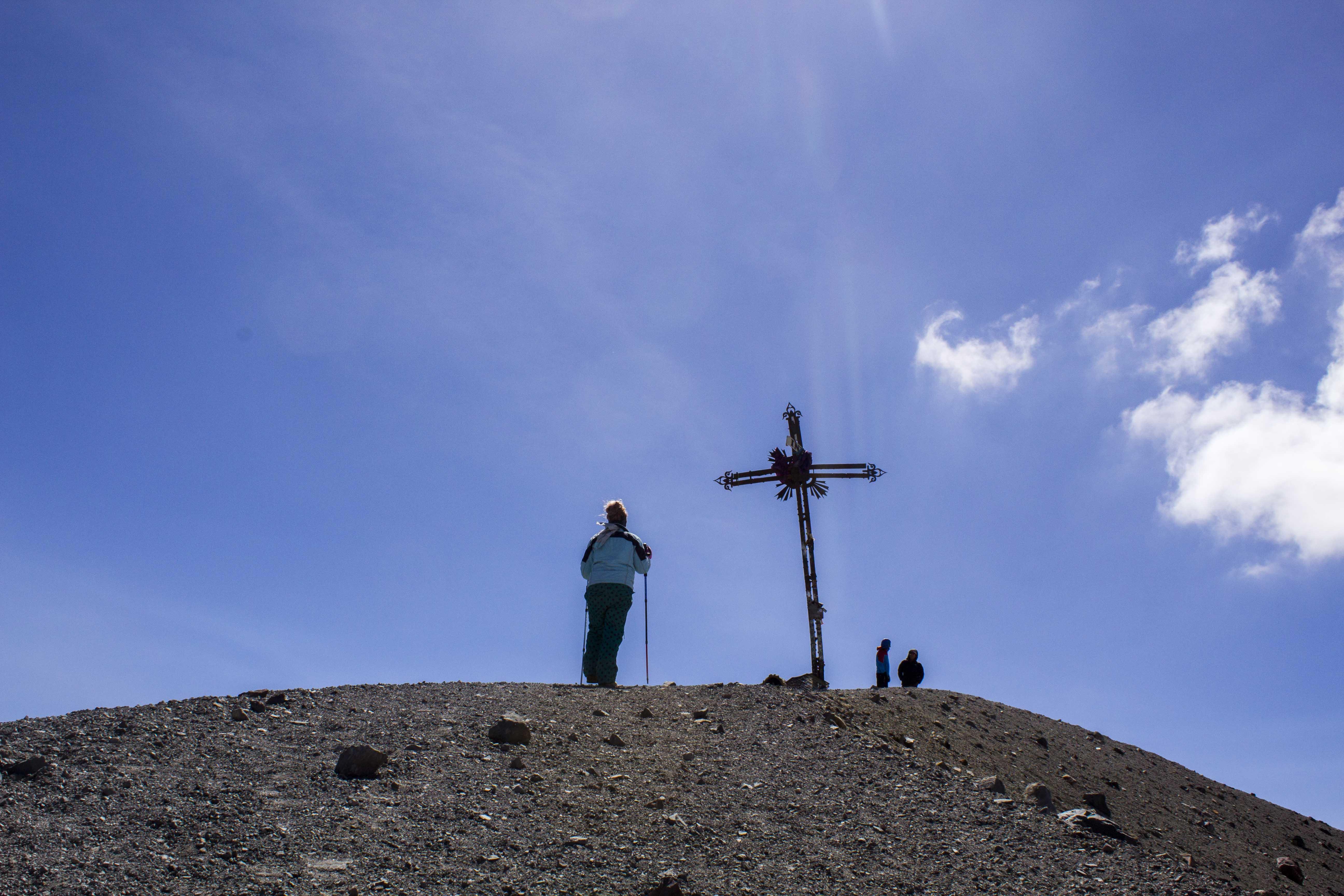 summit of Misti Volcano in Arequipa, Peru
