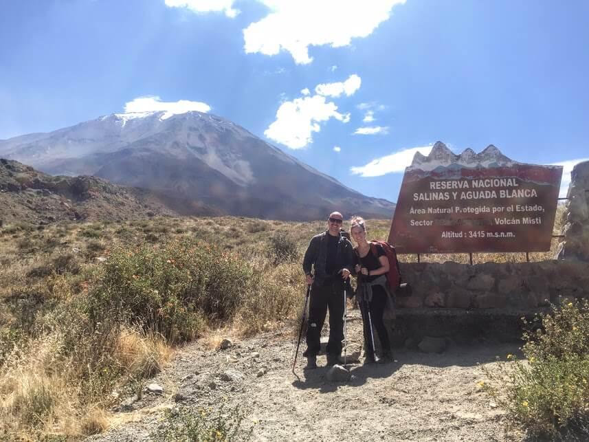 Misti Volcano sign