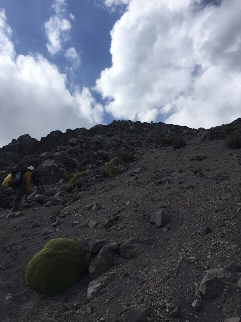 scree on Misti Volcano