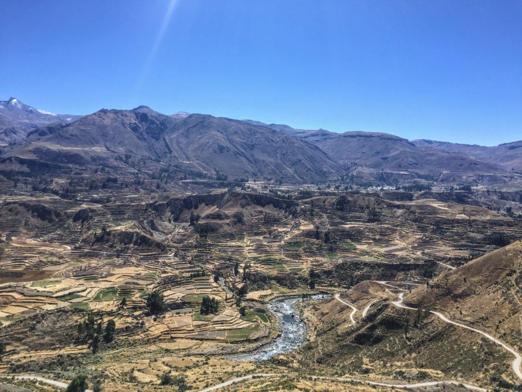 pre-incan terraces in Peru