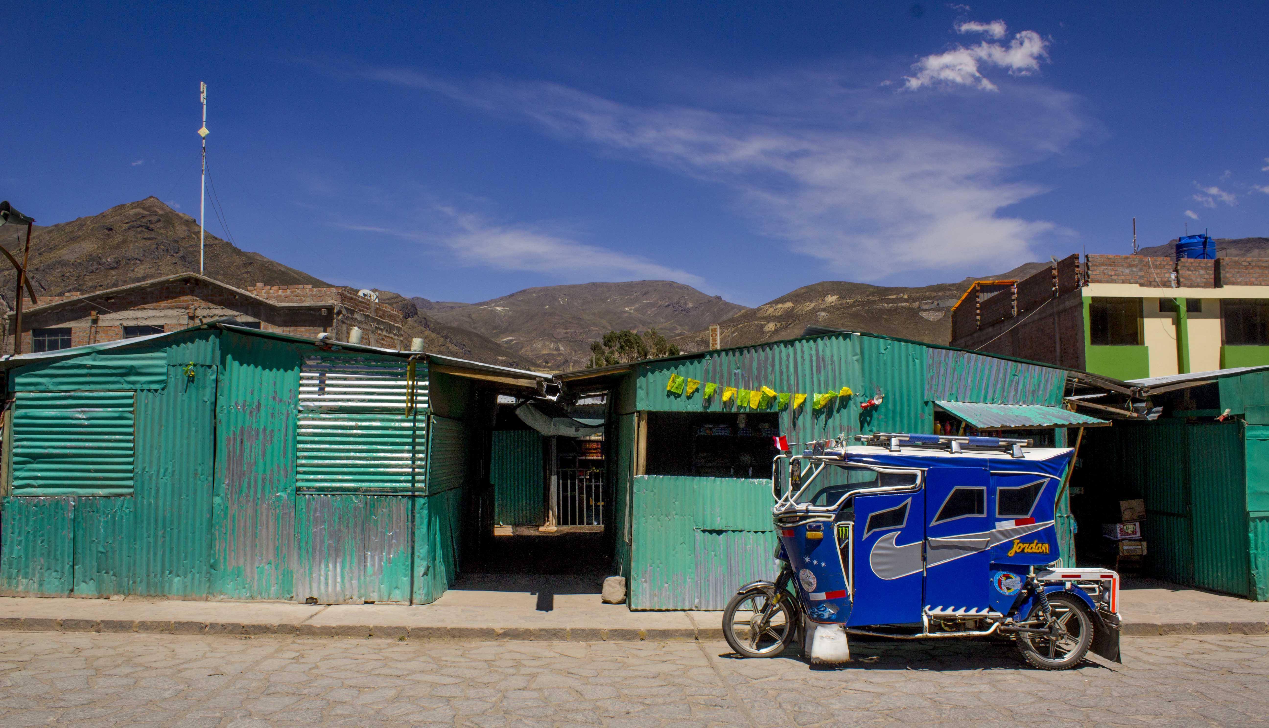 town of Chivay, Peru