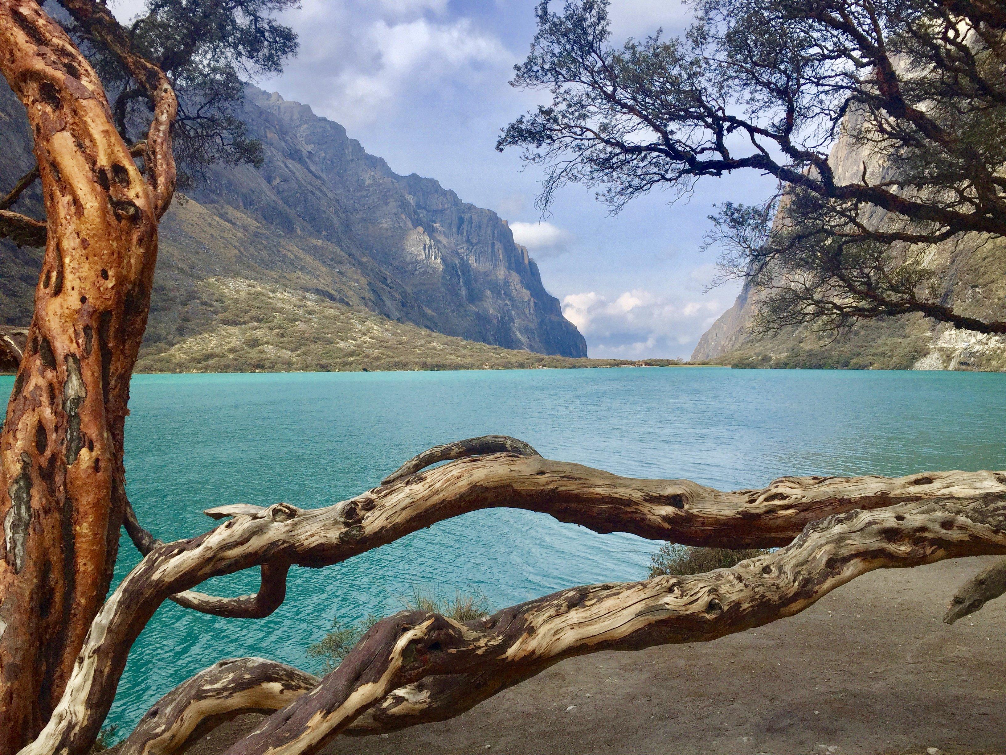 lakes on the hike to Laguna 69