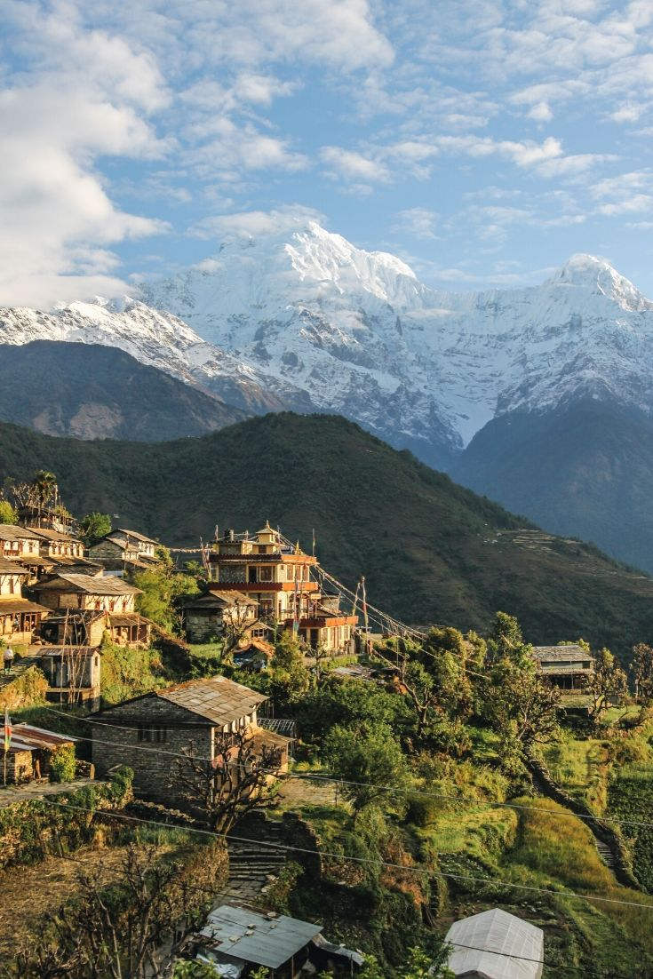 mountain town in Nepal