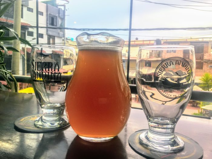 pitcher of craft beer at Trivio