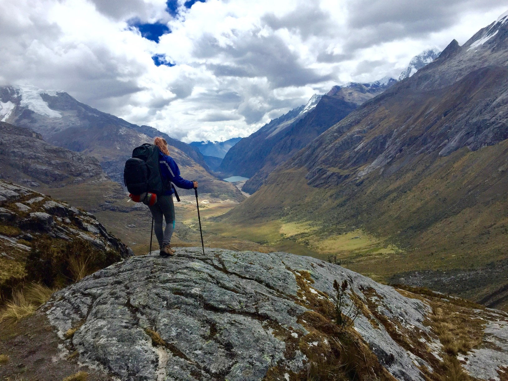 hiking in Peru on the Santa Cruz Trek