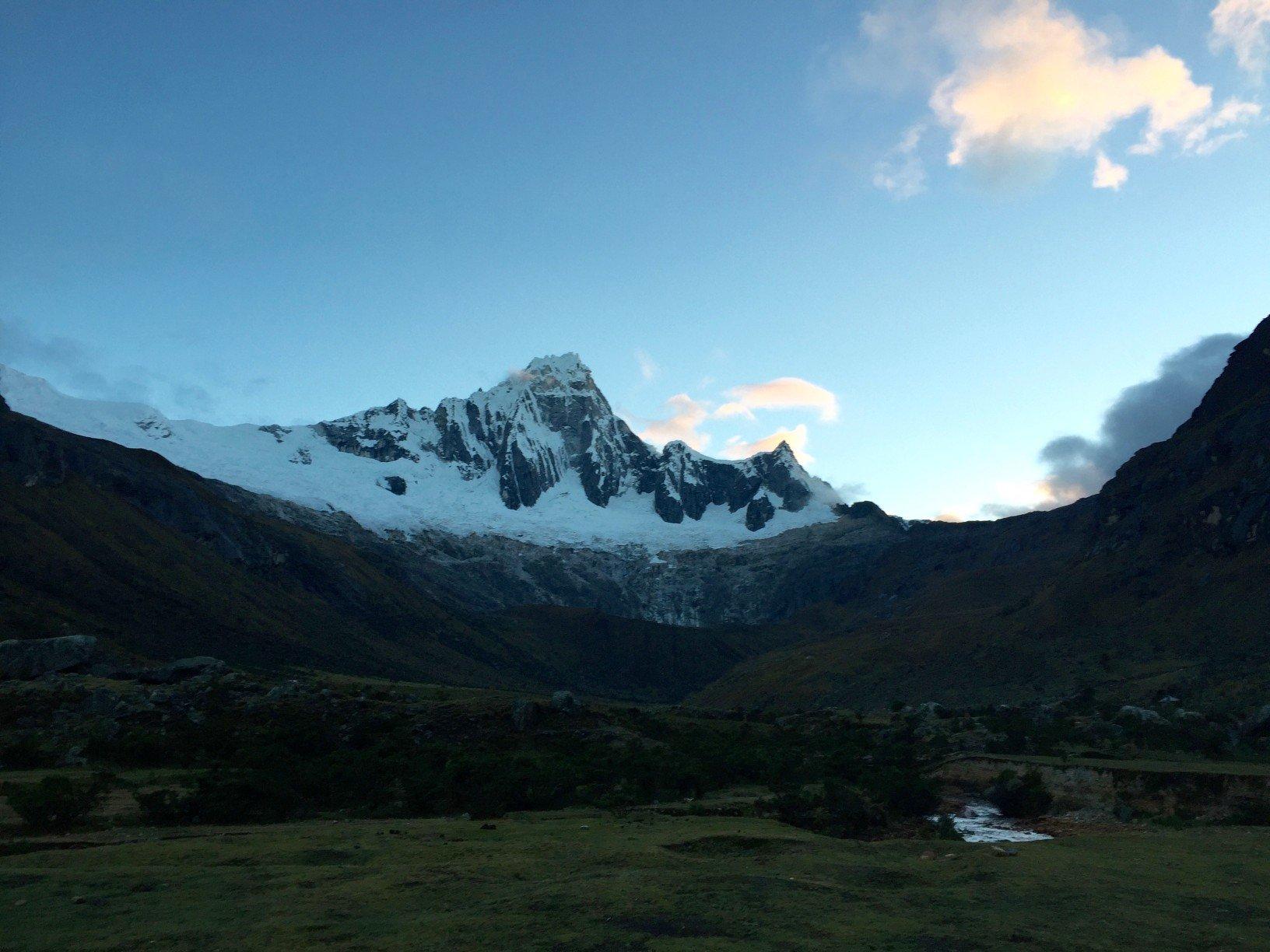 view of a mountain on the Santa Cruz trek