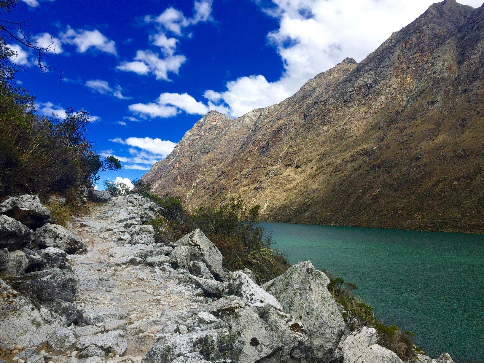 lakes on a solo hike of santa cruz trail