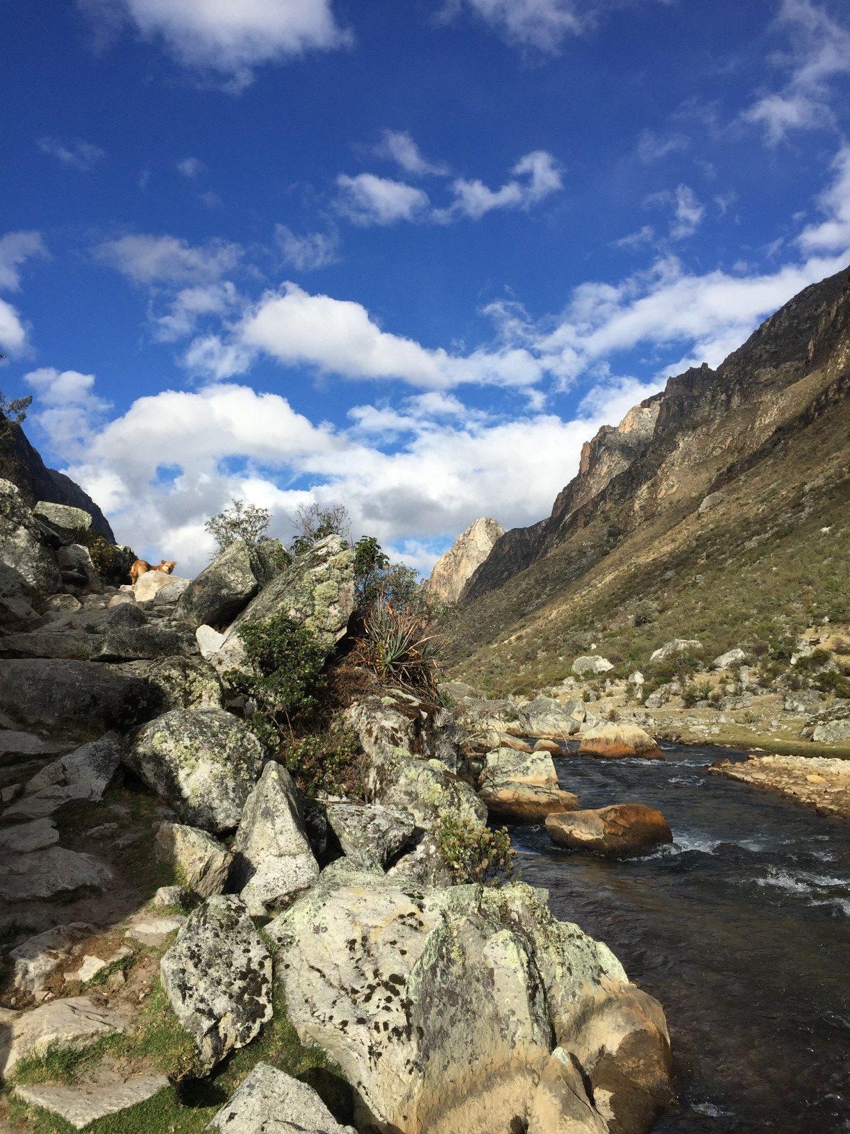 hiking the santa cruz trek in Peru