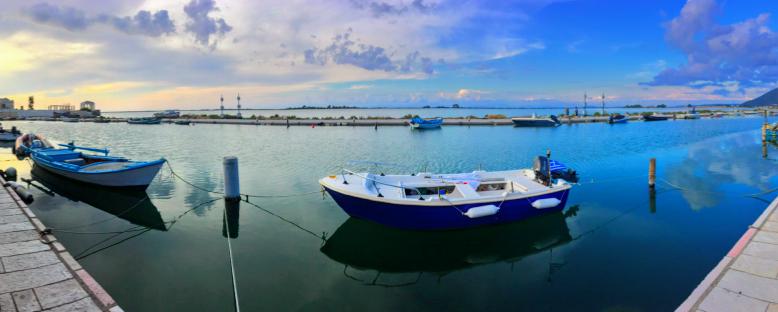 boats in port in Greece