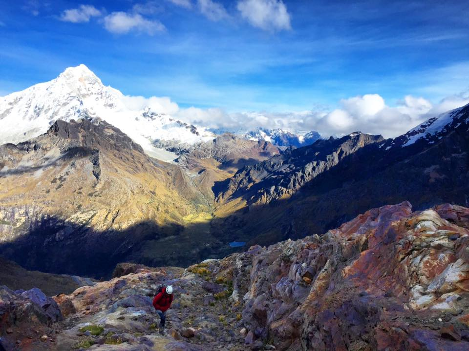climbing Nevado Mateo in Huaraz, Peru