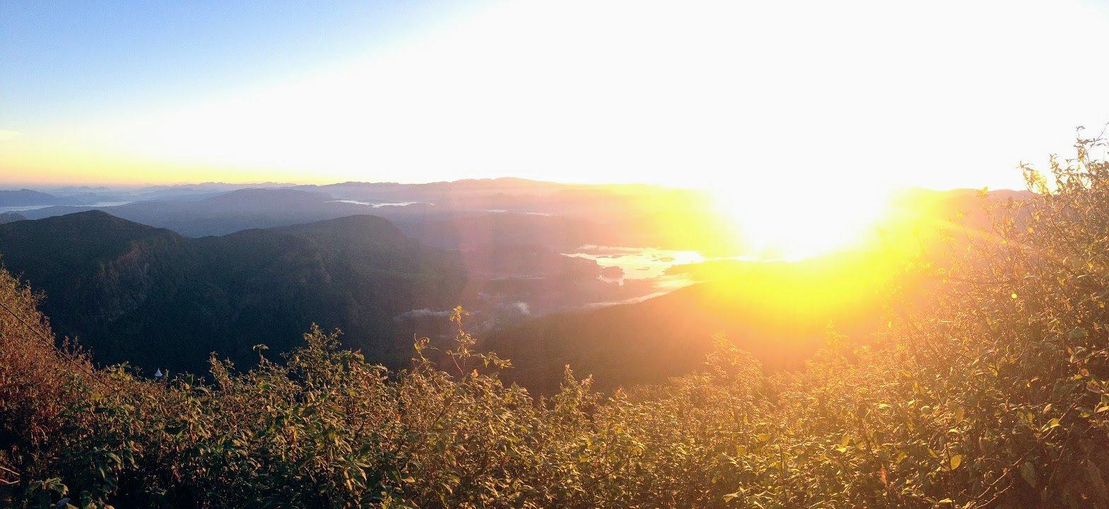 sunrise on Adam's Peak