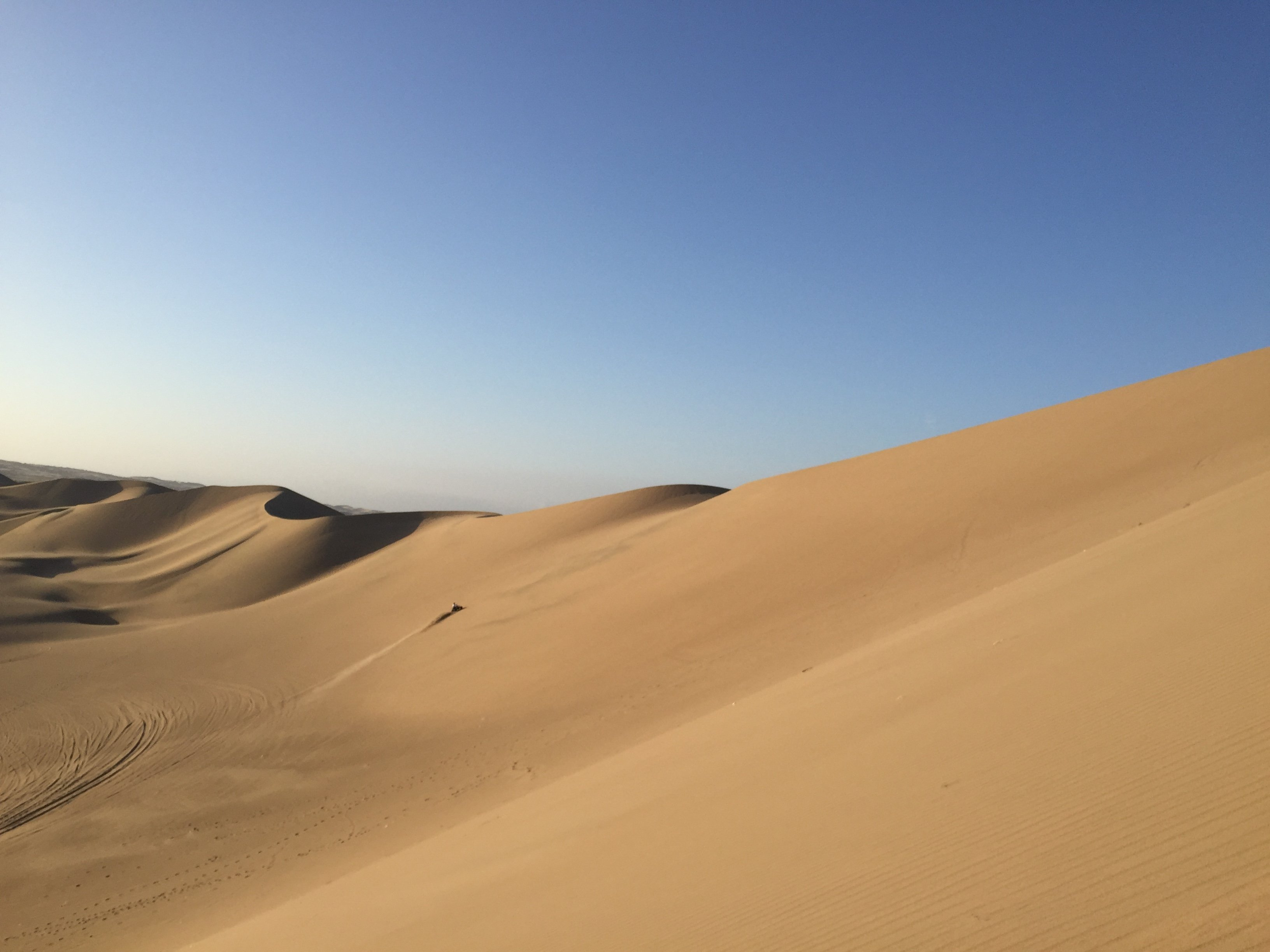 sand dunes in the Huacachina Oasis