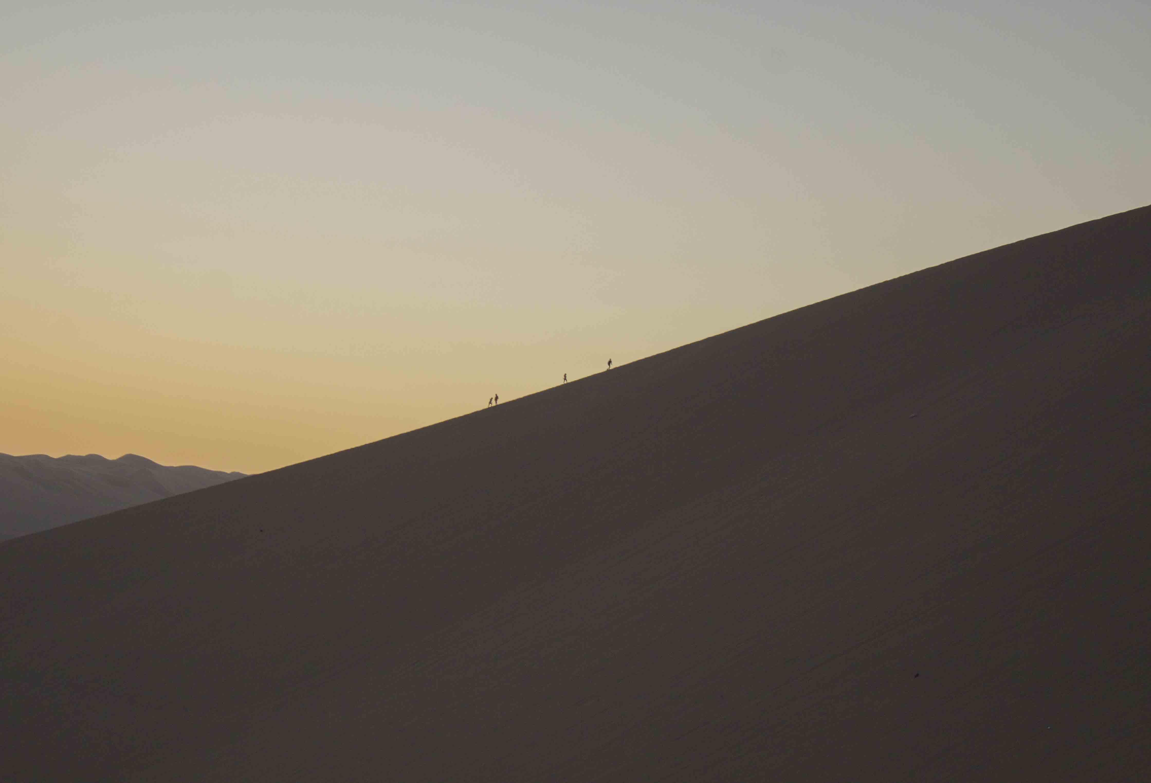 sand boardering in Peru