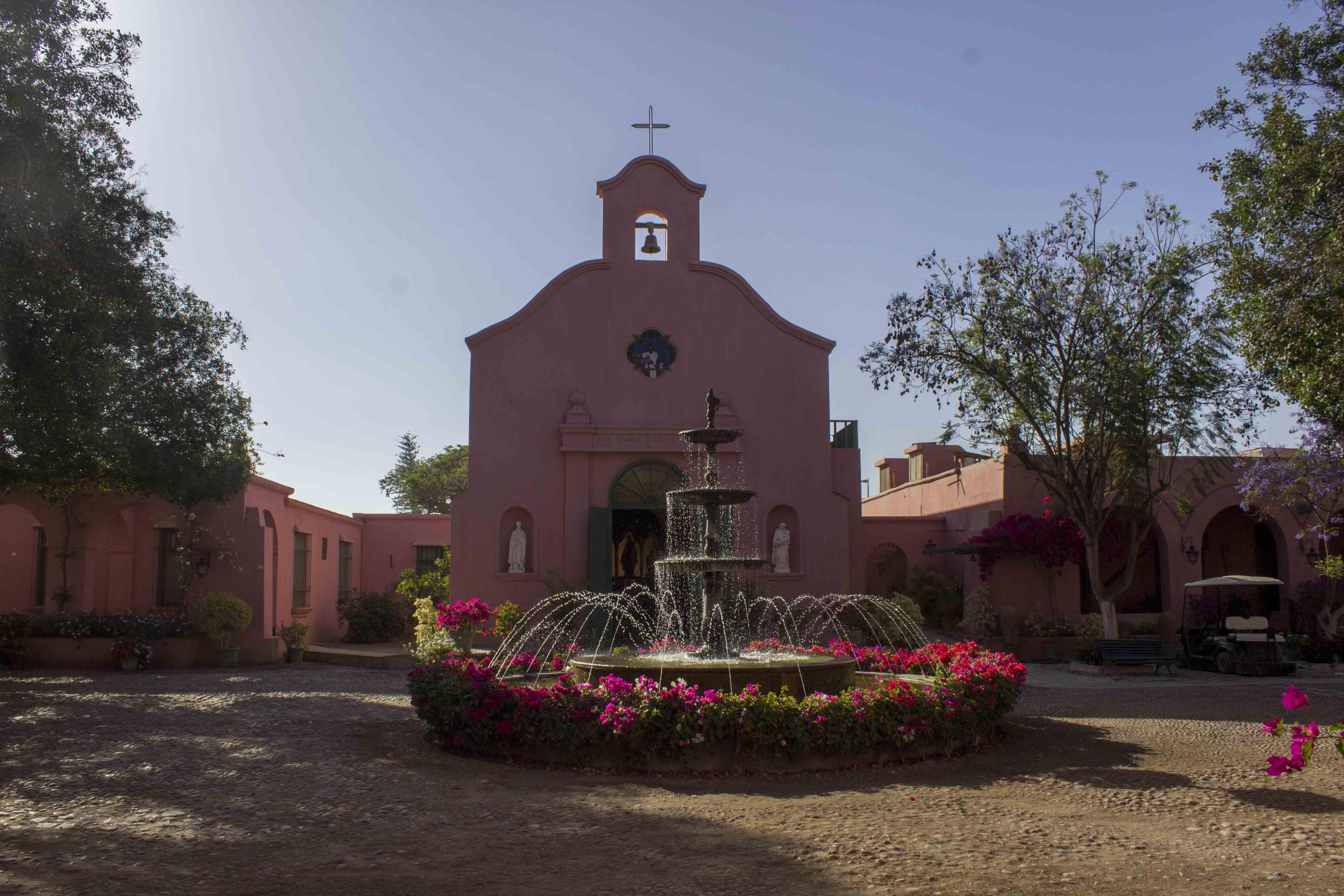 pink chapel in Peru