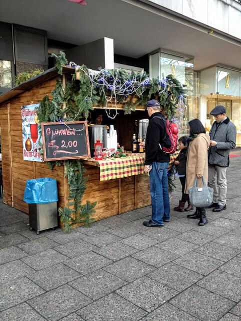 Gluhwein stand set up for Christmas in Berlin
