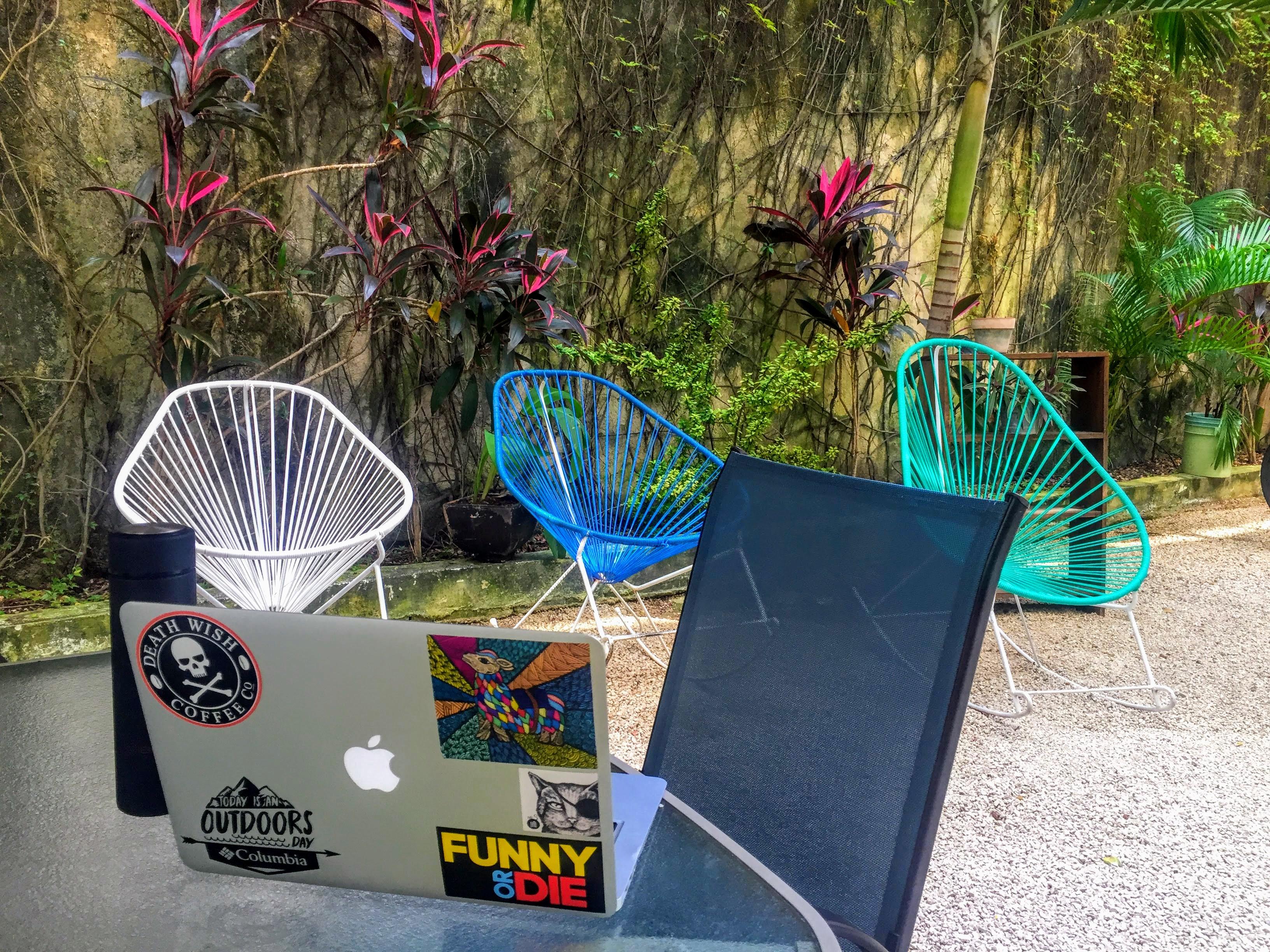Nest Coworking outdoor space