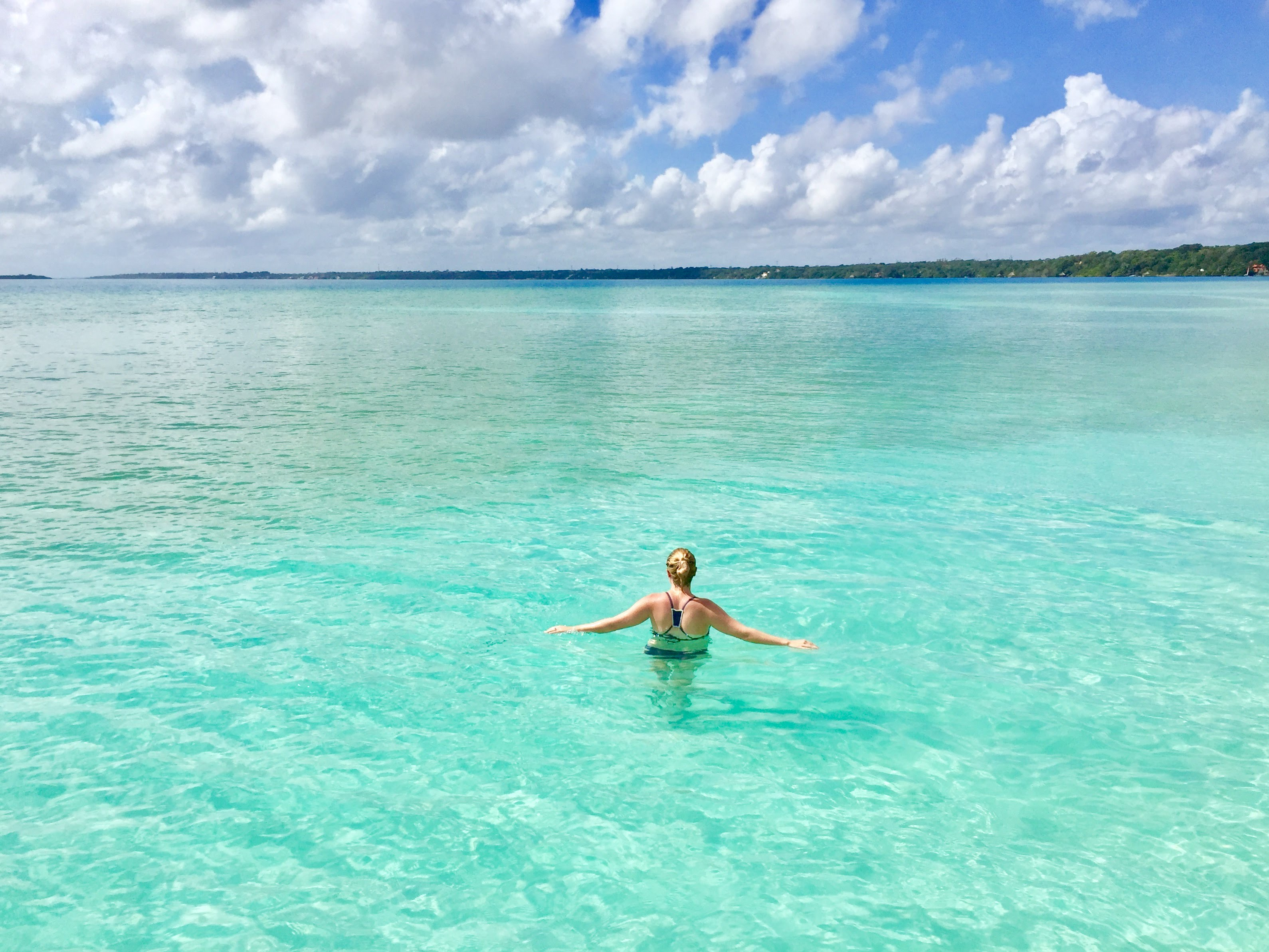 the blue waters of laguna bacalar
