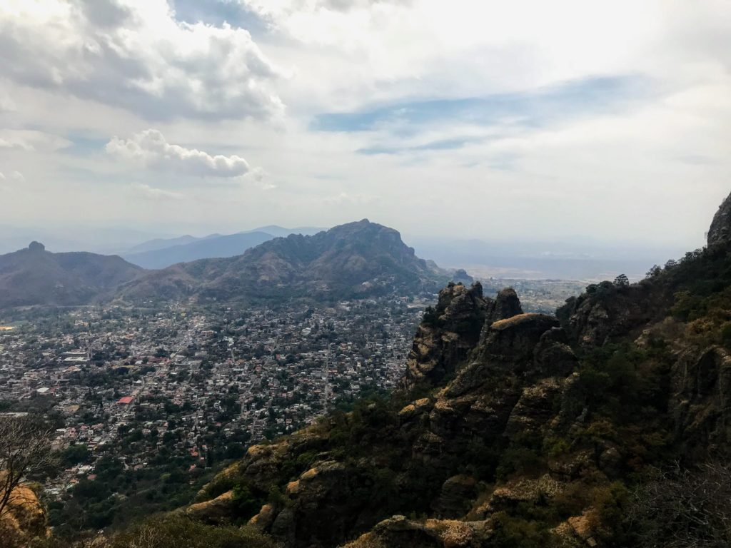 hiking in Mexico City at the Tepozteco Ruins