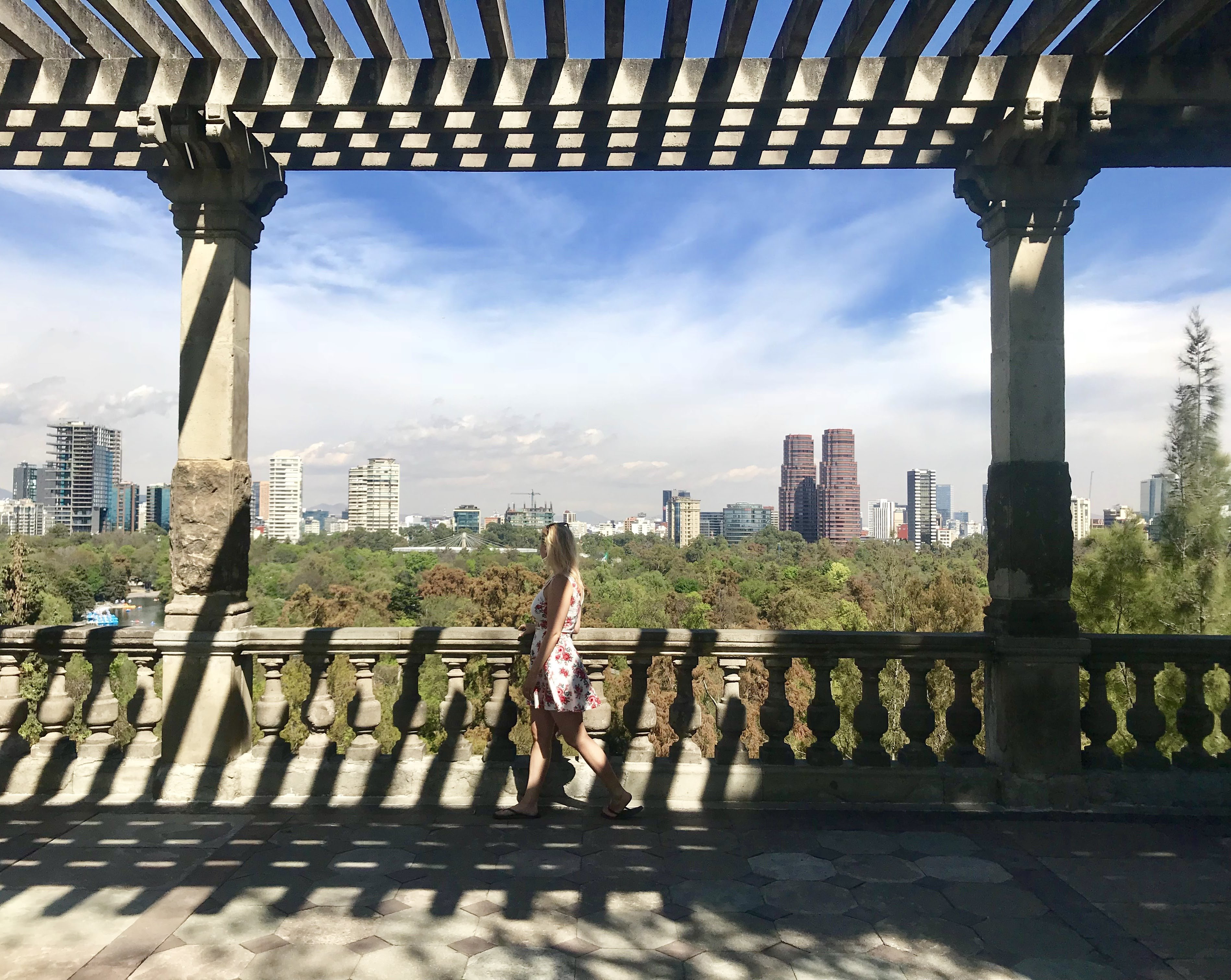 view of Mexico City from Chapultepec Park