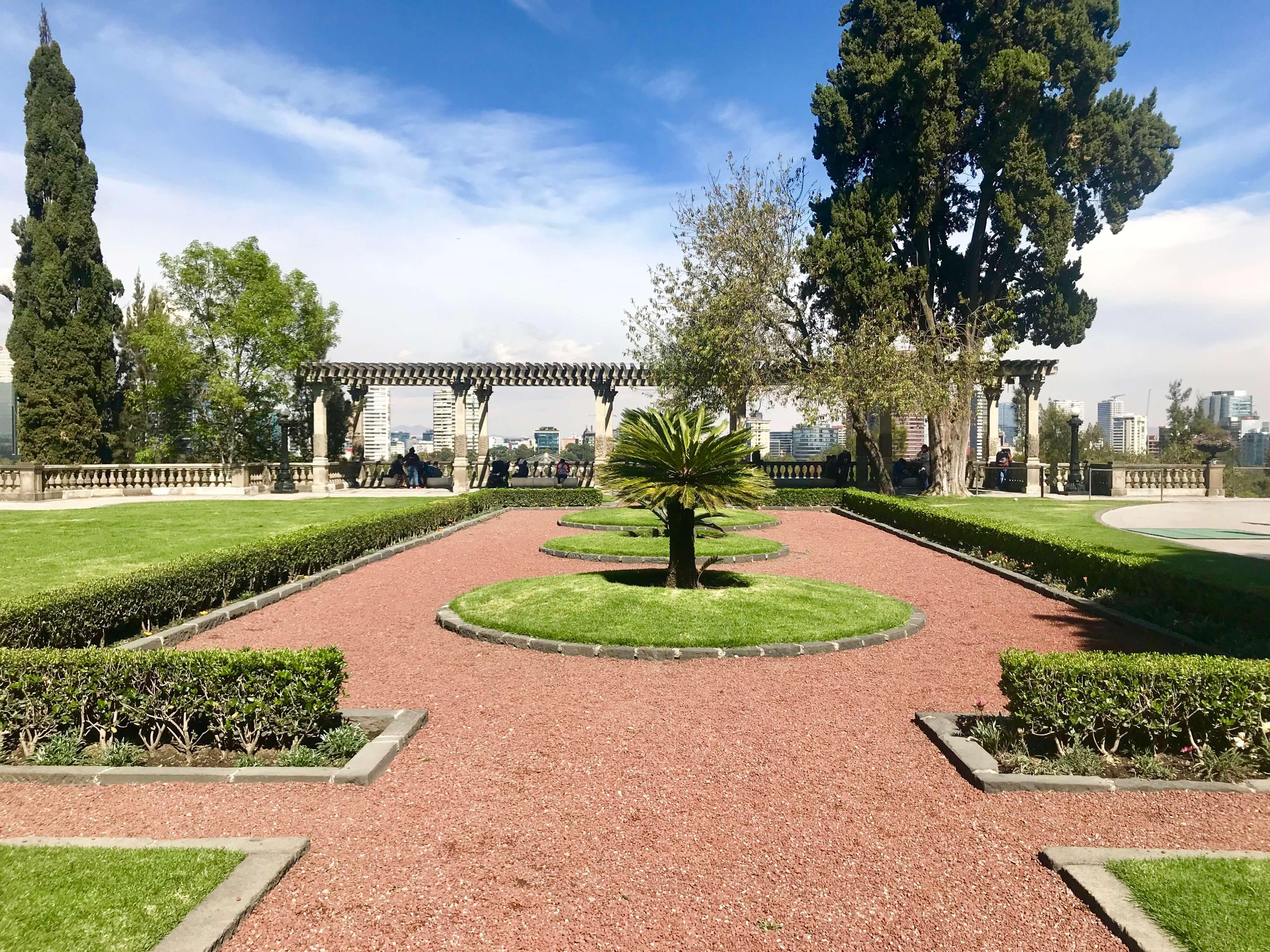 gardens at Castillo de Chapultepec