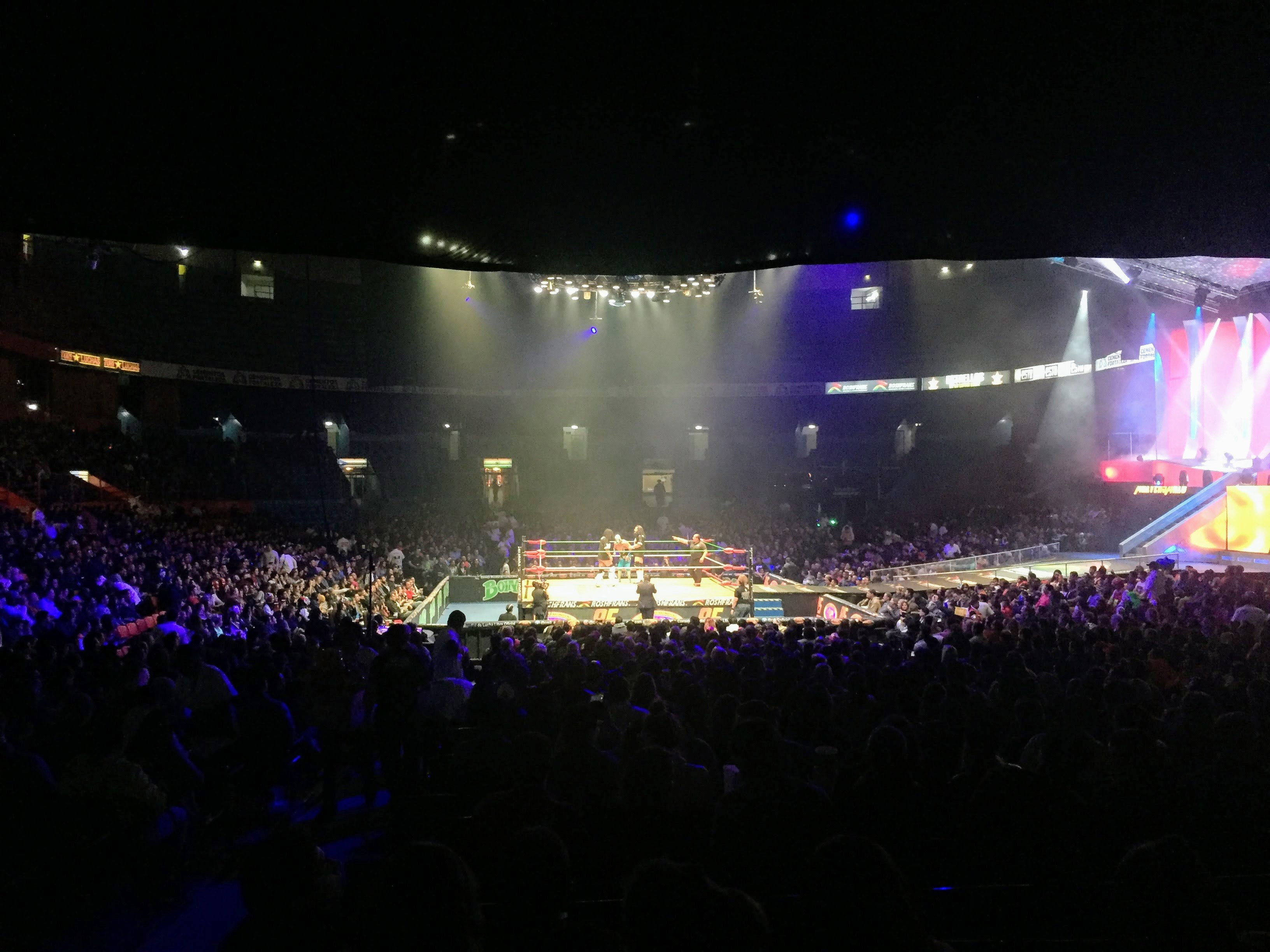 Wrestling Match in Arena Mexico