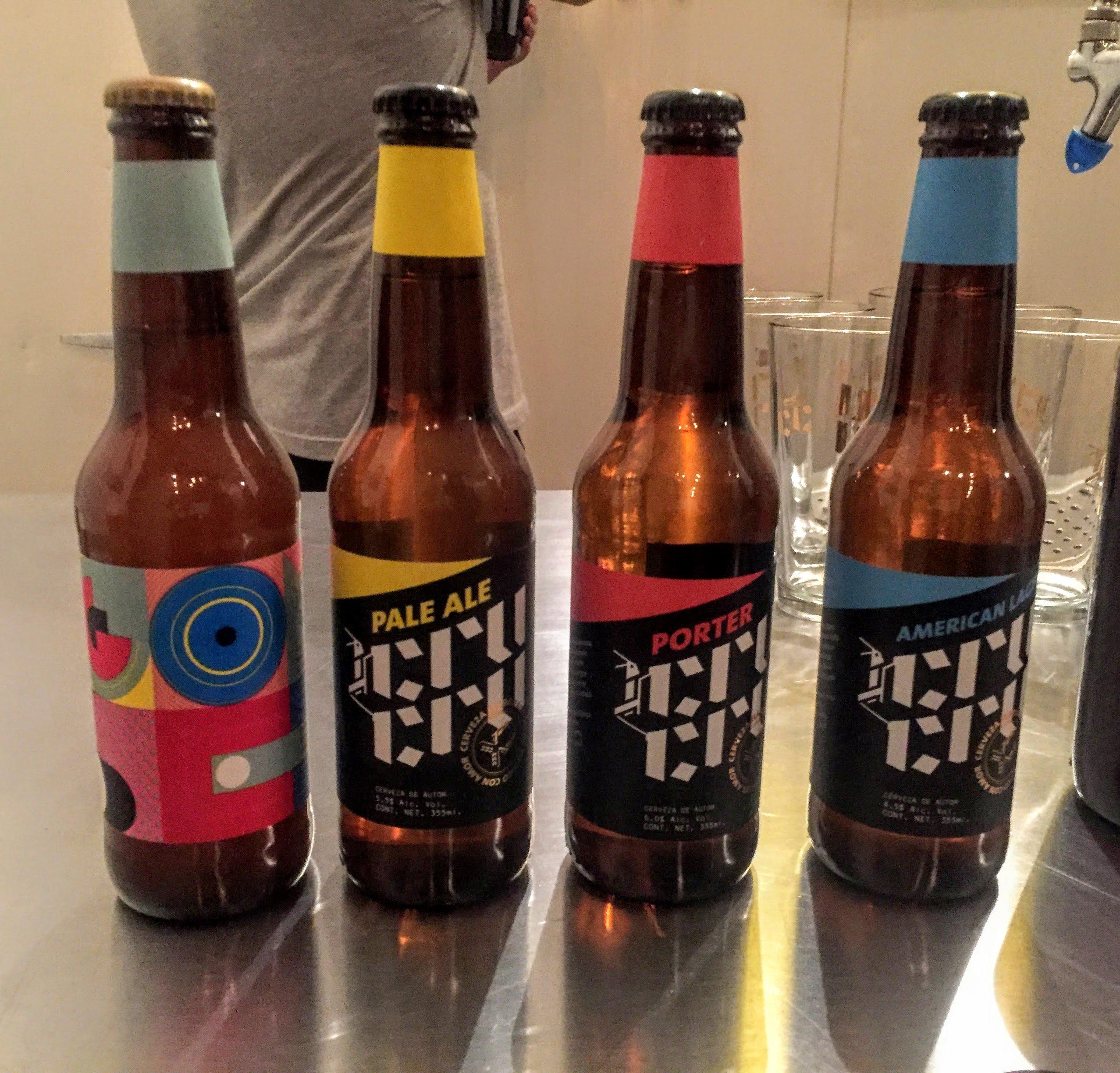 four beers from cerveceria cru cru