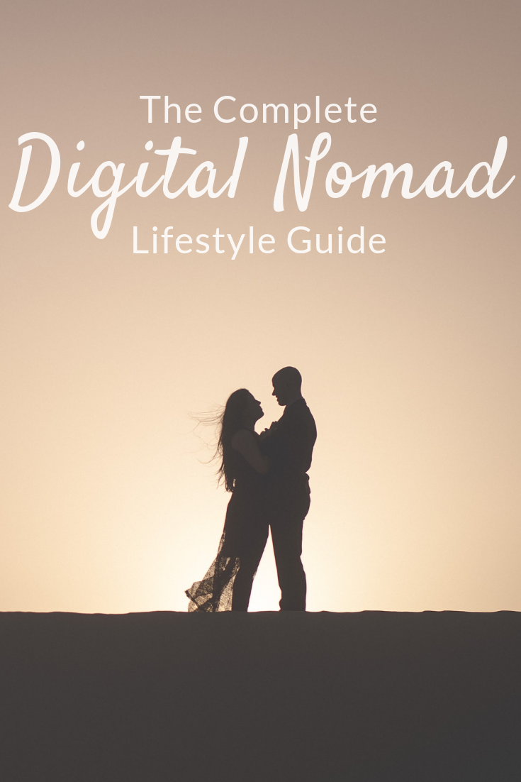 digital nomad lifestyle guide Pinterest pin