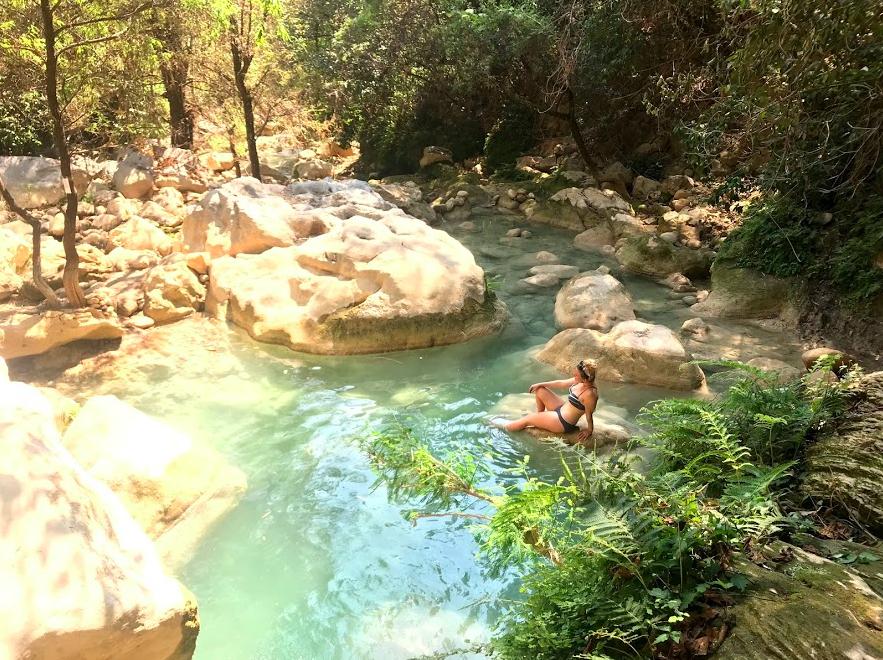 swimming in the Pozas Azules
