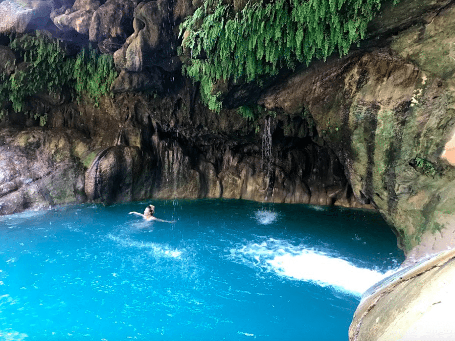 swimming in the Pozas Azules, Taxcos natural pools