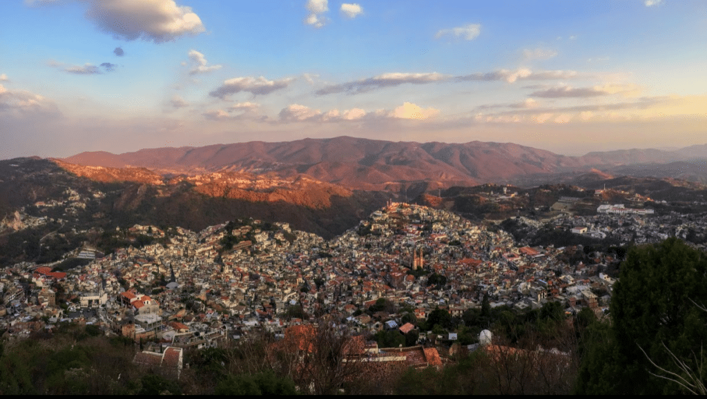 Taxco, Mexico at sunset