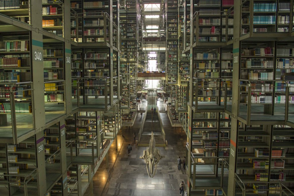 Biblioteca Vasconcelos library in Mexico City