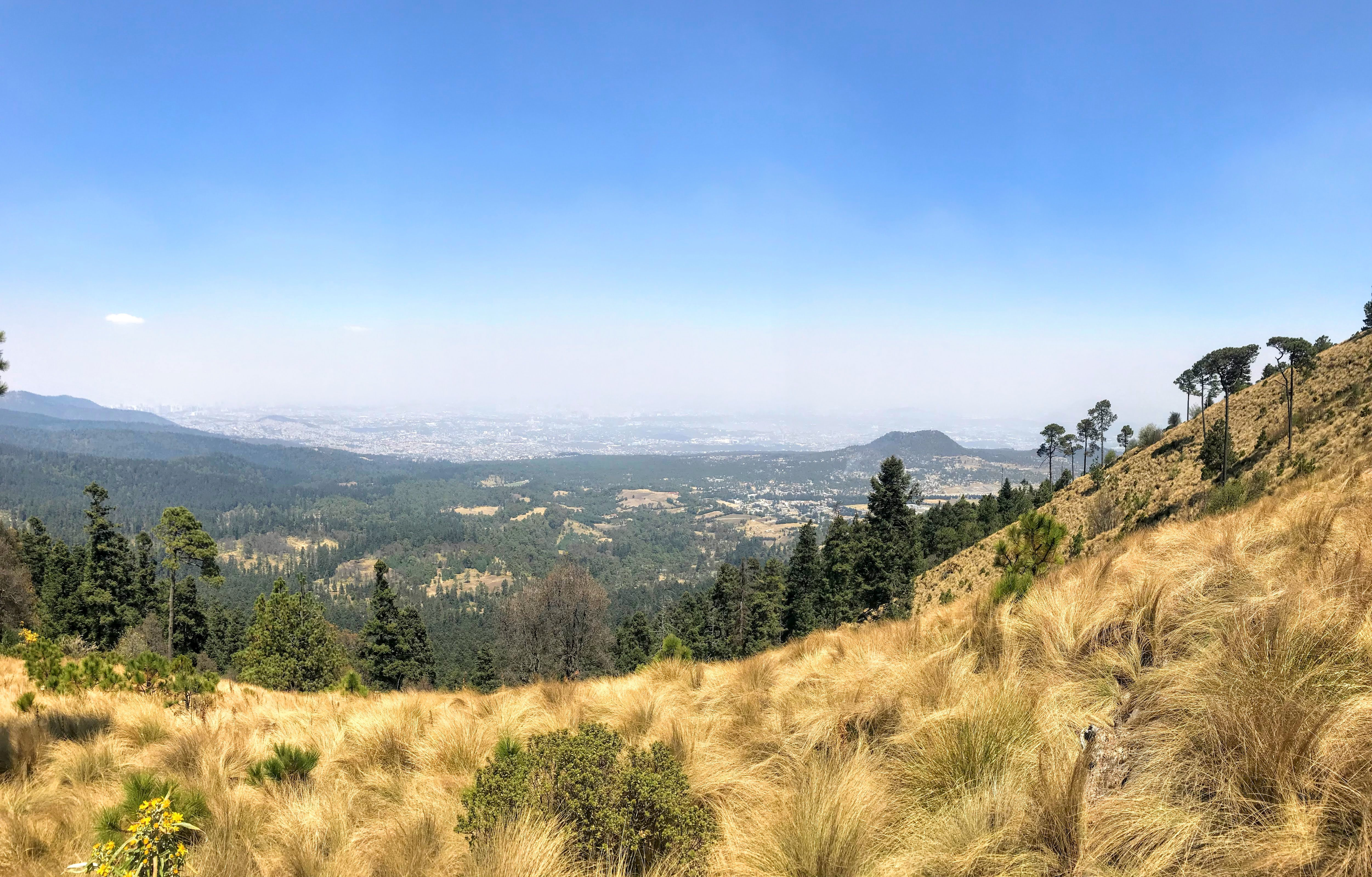 hiking in Cumbres del Ajusco National Park