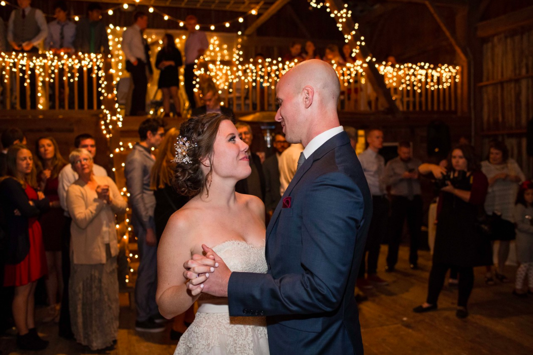 our first dance at Lost Creek Memory Barn