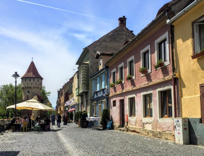 colorful Sibiu restaurants in the center