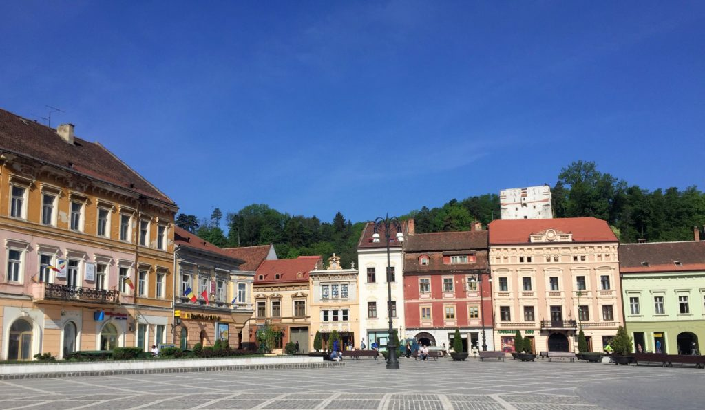 colorful main square of Brasov